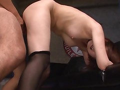 Asian sweetheart mounts big 10-Pounder and bonks until that chick squirts