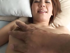 Glamorous Oriental mother i'd like to fuck sucks on hard schlong and her bushy cunt fingered